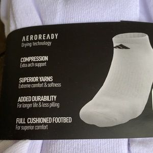 ADIDAS MEN'S CUSHIONED AERORADY COMPRESSN NO SHOW